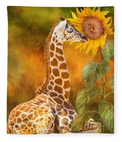 Growing Tall - Giraffe Fleece Blanket
