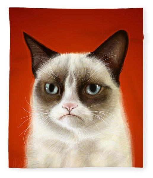 Grumpy Cat Fleece Blanket
