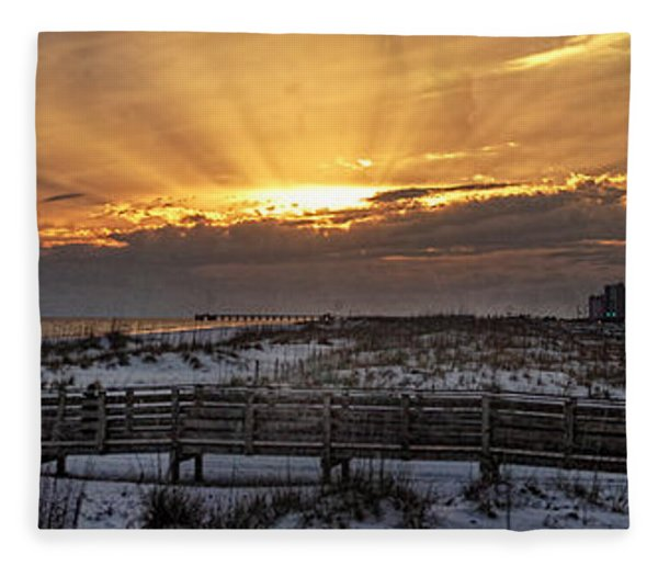 Gulf Shores From Pavilion Fleece Blanket