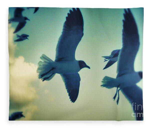 Gulls Fleece Blanket