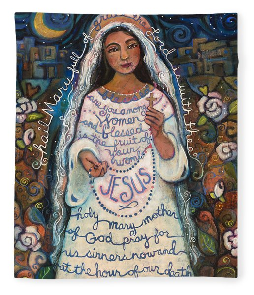 Hail Mary Fleece Blanket