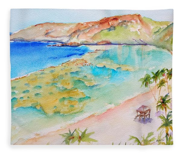 Hanauma Bay Fleece Blanket