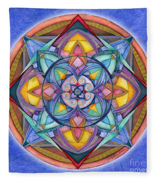 Harmony Mandala Fleece Blanket