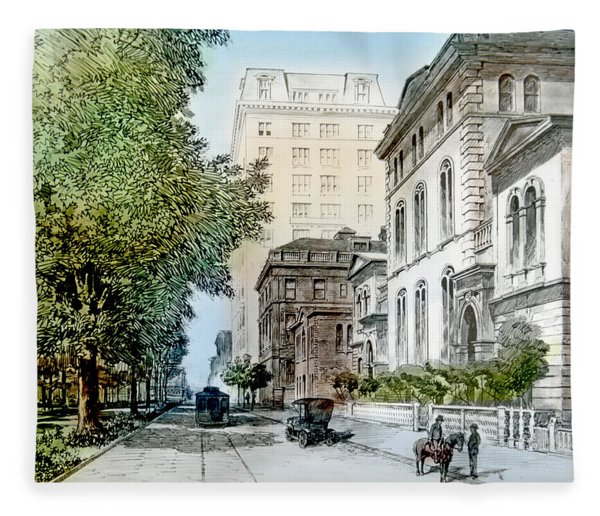 Harrison Residence East Rittenhouse Square Philadelphia C 1890 Fleece Blanket