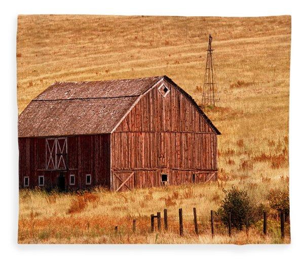 Harvest Barn Fleece Blanket