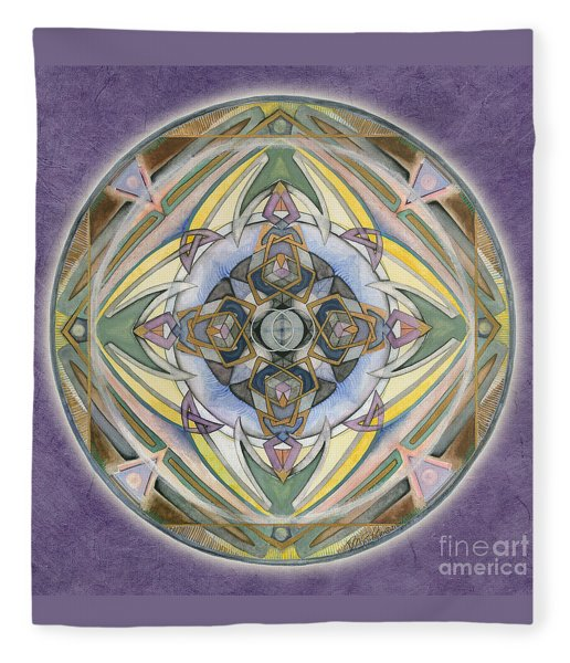 Healing Mandala Fleece Blanket