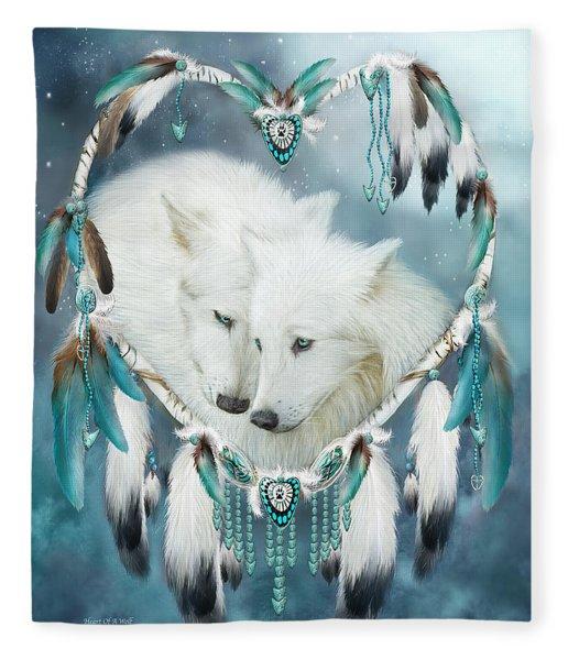 Heart Of A Wolf Fleece Blanket