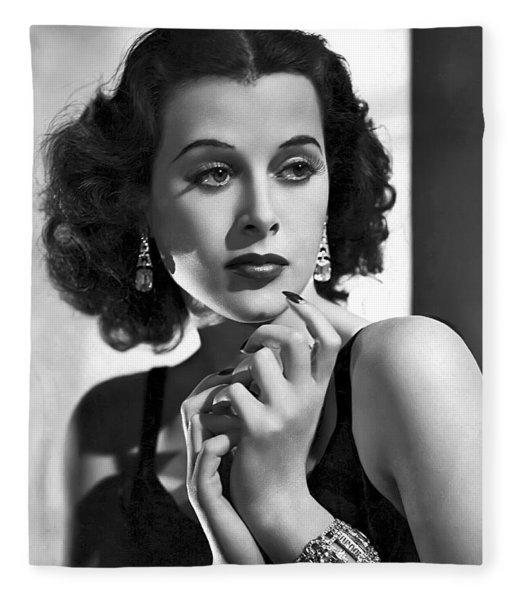 Hedy Lamarr - Beauty And Brains Fleece Blanket