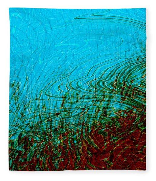 Fleece Blanket featuring the digital art Hellfreezesover by Matt Lindley