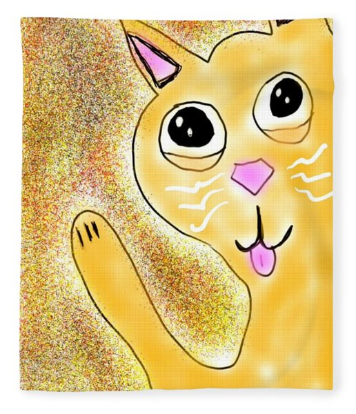Hello Little Kitty Fleece Blanket