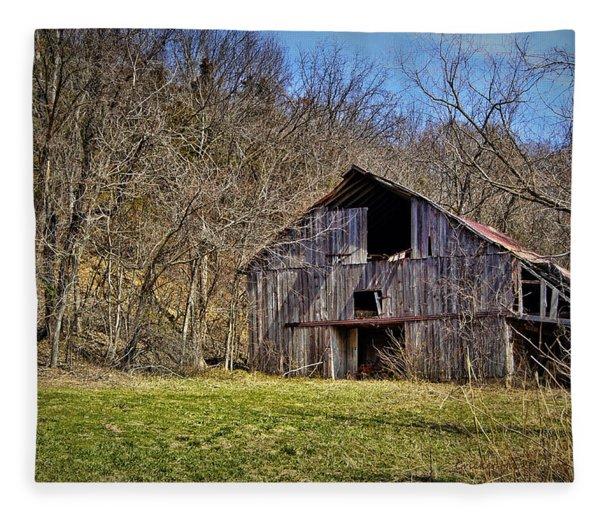 Hidden Barn Fleece Blanket