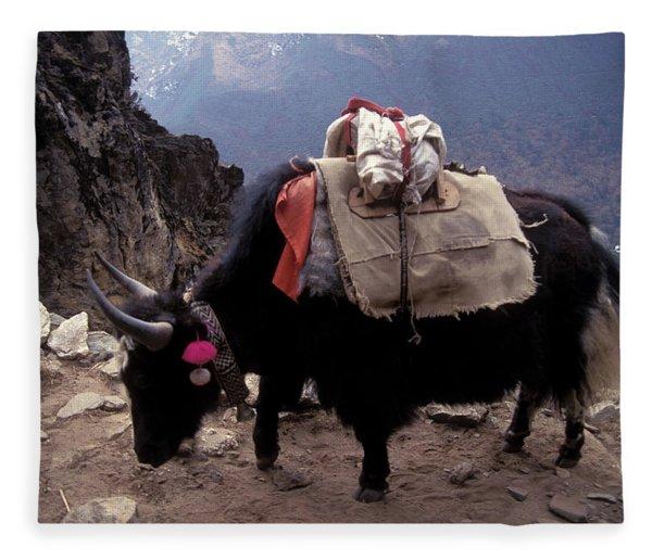 Himalaya Mountains Fleece Blanket