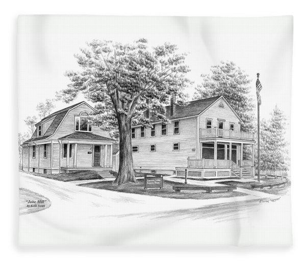 Historic Jaite Mill - Cuyahoga Valley National Park Fleece Blanket