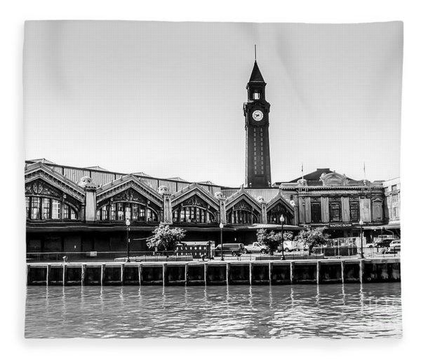 Hoboken Terminal Tower Fleece Blanket