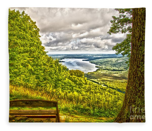 Honeoye Lake Overlook Fleece Blanket