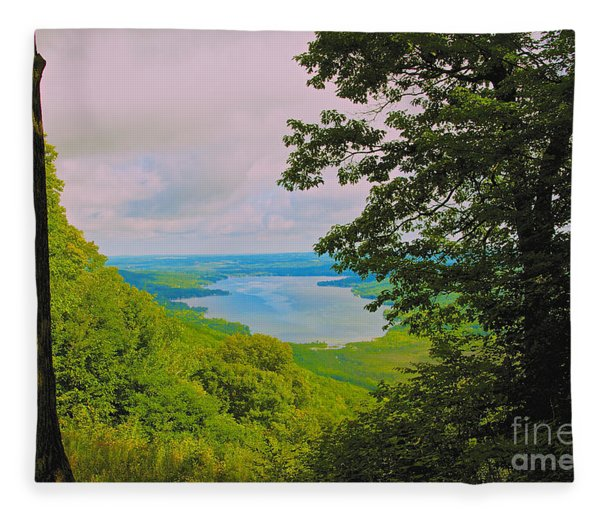 Honeoye Lake Fleece Blanket