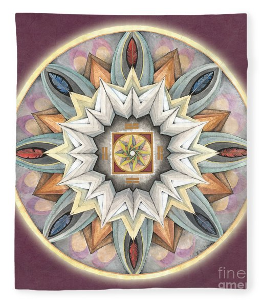 Honor Mandala Fleece Blanket