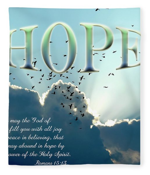 Fleece Blanket featuring the photograph Hope by Carolyn Marshall