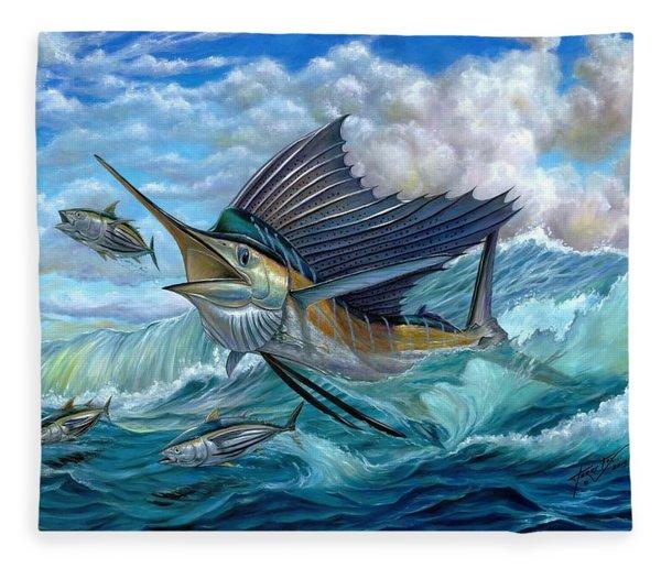 Hunting Sail Fleece Blanket