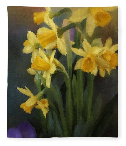 I Believe - Flower Art Fleece Blanket