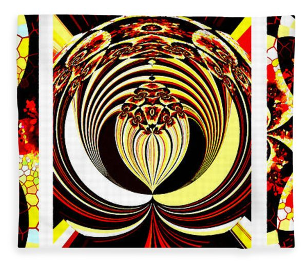 Iconic - Abstract - Triptych Fleece Blanket