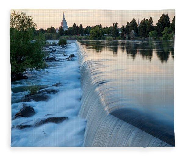 Idaho Falls Sunset Fleece Blanket