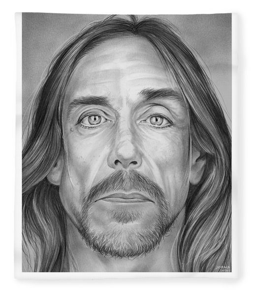 Iggy Pop Fleece Blanket