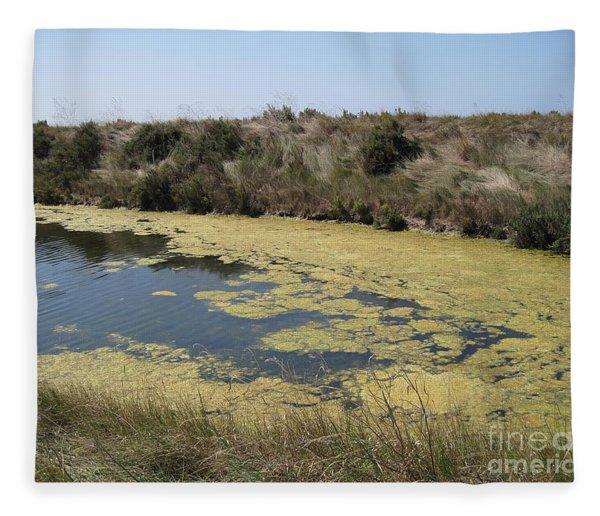 Ile De Re - Marshes Fleece Blanket
