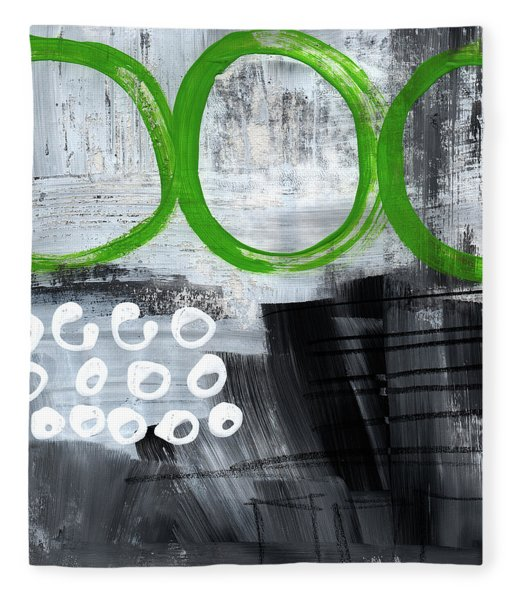 In Circles- Abstract Painting Fleece Blanket