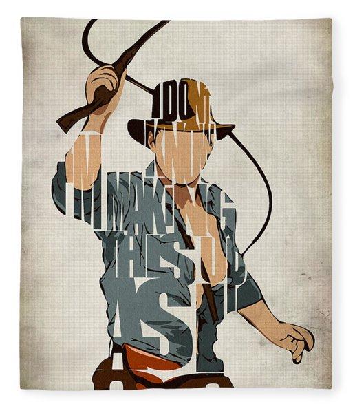 Indiana Jones - Harrison Ford Fleece Blanket