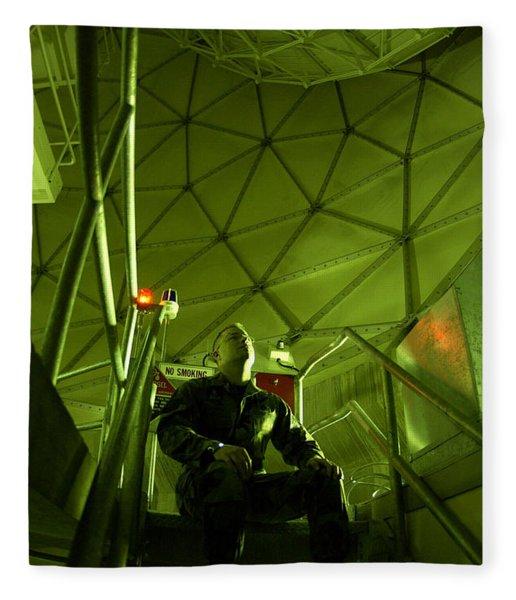 Inside A Satellite Dish Fleece Blanket