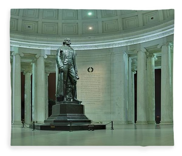 Inside The Jefferson Memorial Fleece Blanket