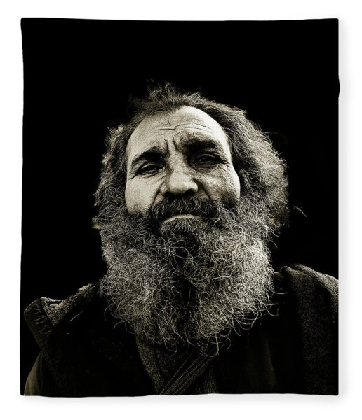 Intense Portrait Fleece Blanket