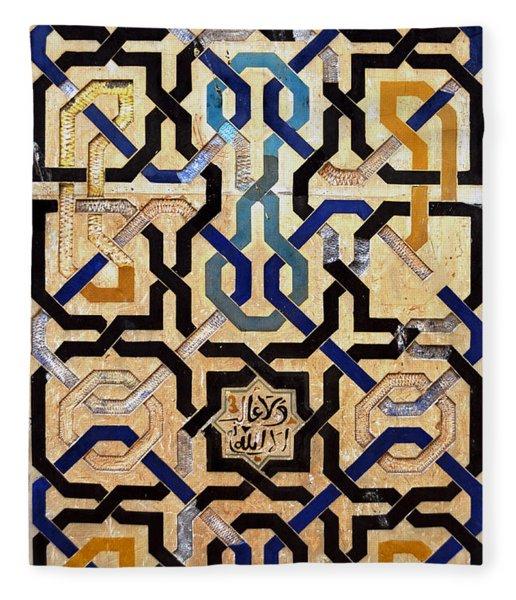 Interlocking Tiles In The Alhambra Fleece Blanket