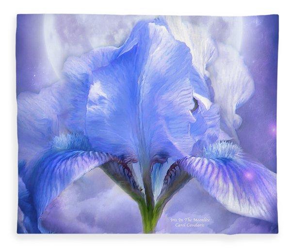 Iris - Goddess In The Moonlite Fleece Blanket