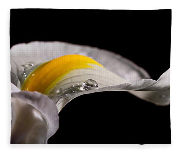Iris With Water Fleece Blanket
