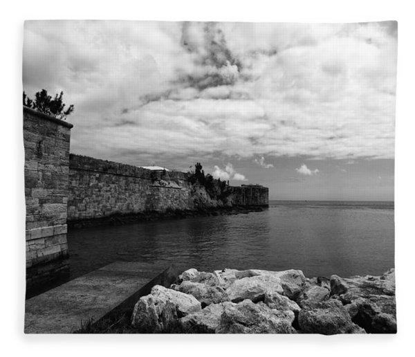 Island Fortress  Fleece Blanket