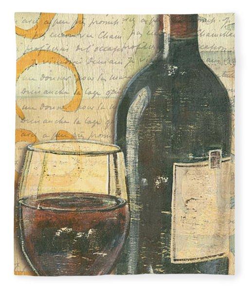 Italian Wine And Grapes Fleece Blanket