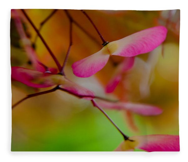 Japanese Maple Seedling Fleece Blanket