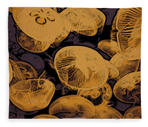 Jellyfish Kingdom Fleece Blanket