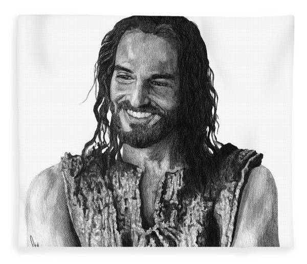 Jesus Smiling Fleece Blanket