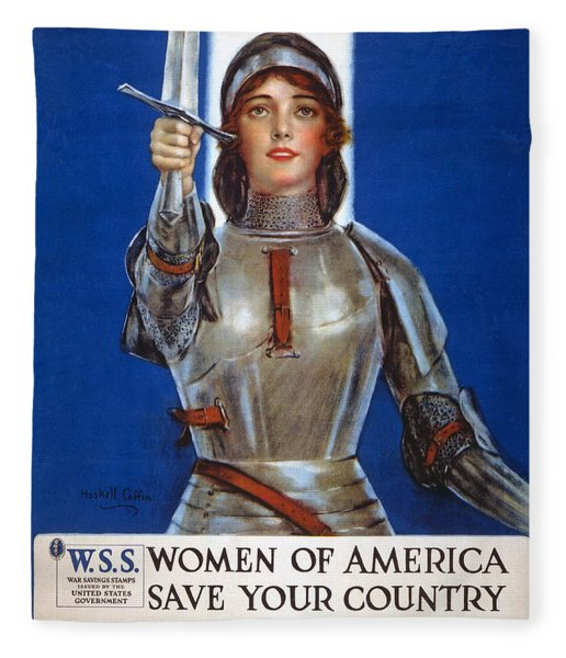 Joan Of Arc Saved France Fleece Blanket