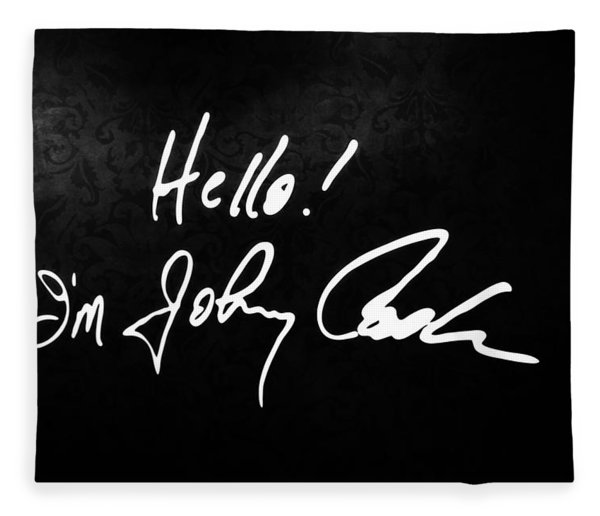 Johnny Cash Museum Fleece Blanket