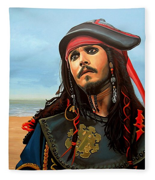 Johnny Depp As Jack Sparrow Fleece Blanket