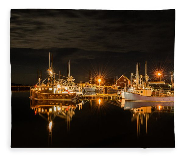 Fleece Blanket featuring the photograph John's Cove Reflections by Garvin Hunter