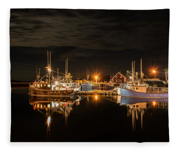 Fleece Blanket featuring the photograph John's Cove Reflections - Revisited by Garvin Hunter