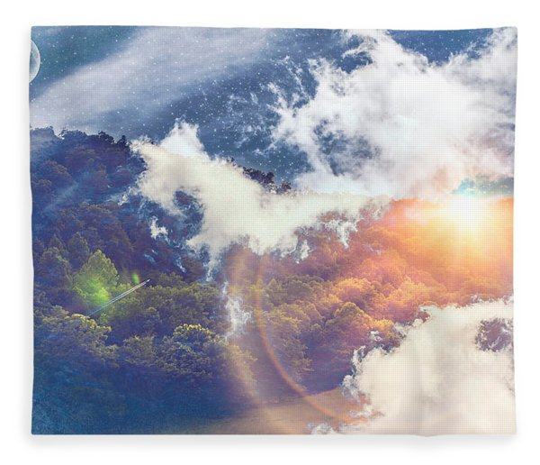 Journey To Another Dimension Fleece Blanket