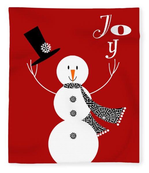 Joyful Snowman Fleece Blanket