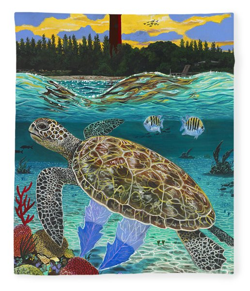 Jupiter Turtle Fleece Blanket