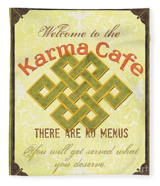 Karma Cafe Fleece Blanket